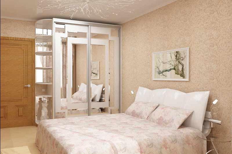 Спальня со шкафом купе фото